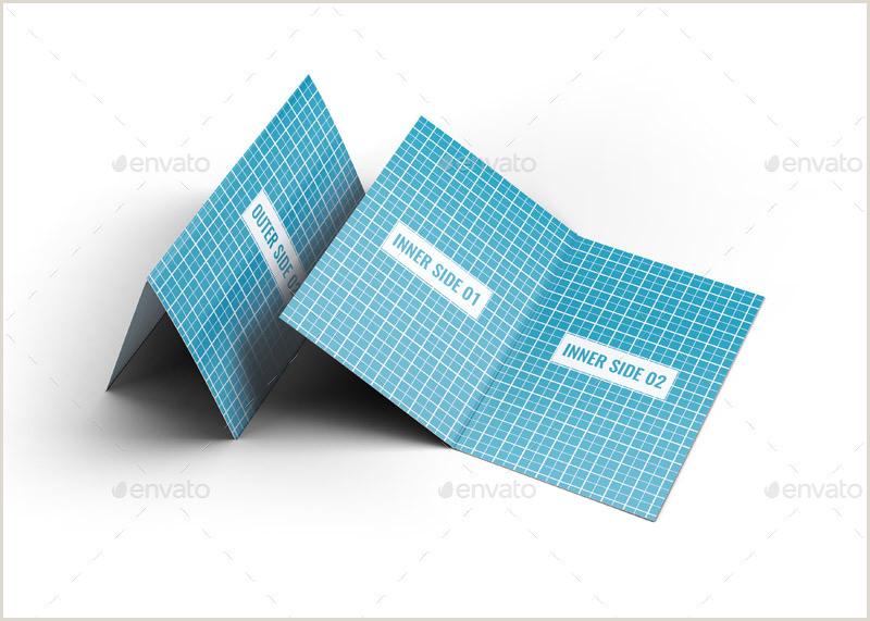 Fold Over Business Card Template 32 Creative Free Folded Business Card Mockup Psd & Vector