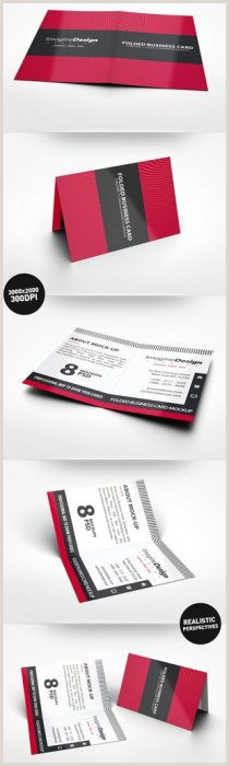 Fold Over Business Card Template 40 Best Folded Business Cards Techclient