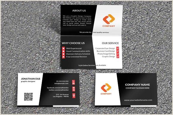Fold Over Business Card Template Creative Folded Business Card Vol 3