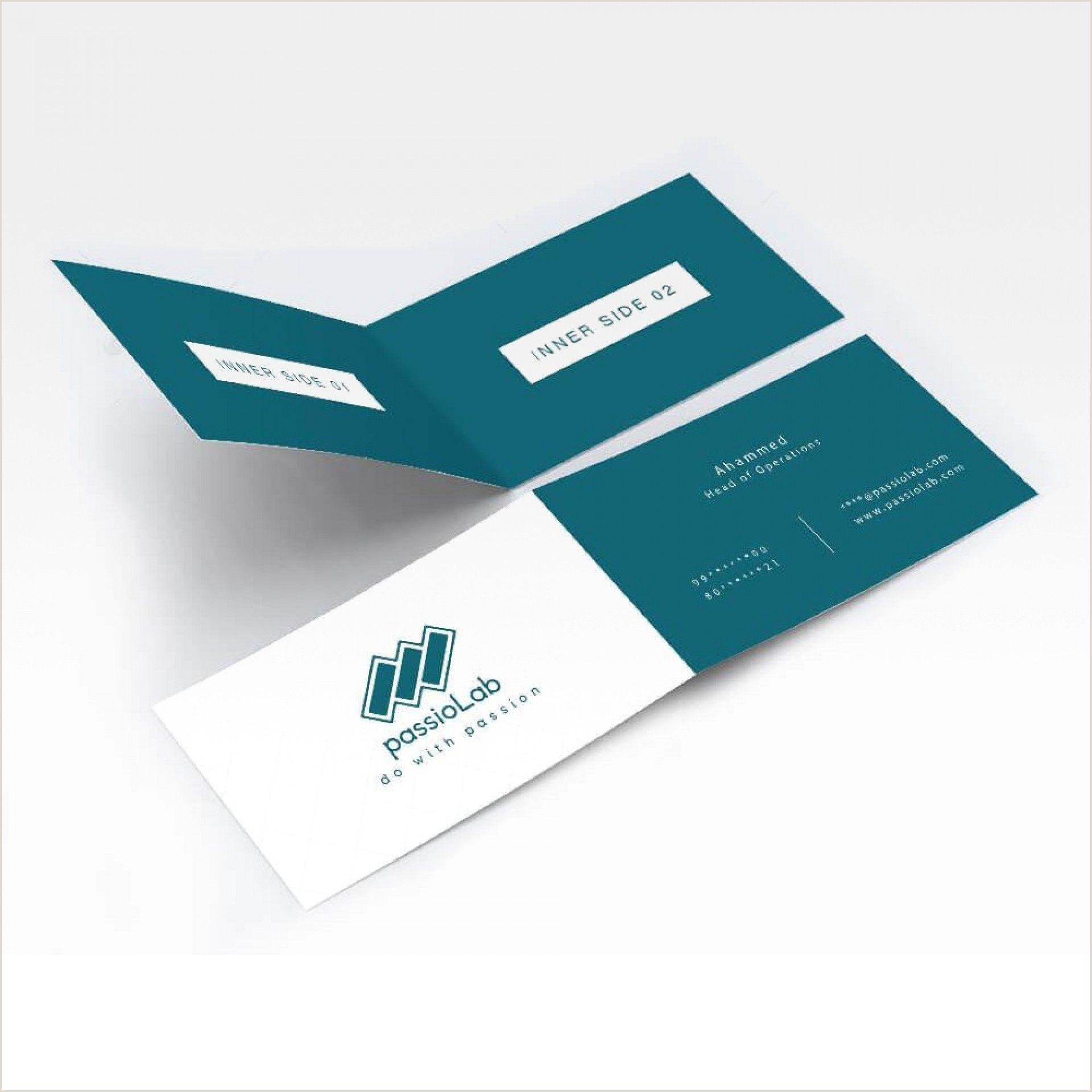 Fold Over Business Card Template Folding Business Card Templates Addictionary