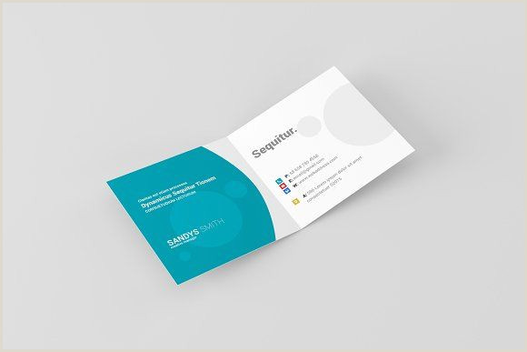 Fold Over Business Card Template Square Folded Business Card Mock Ups By Toasin Studio On