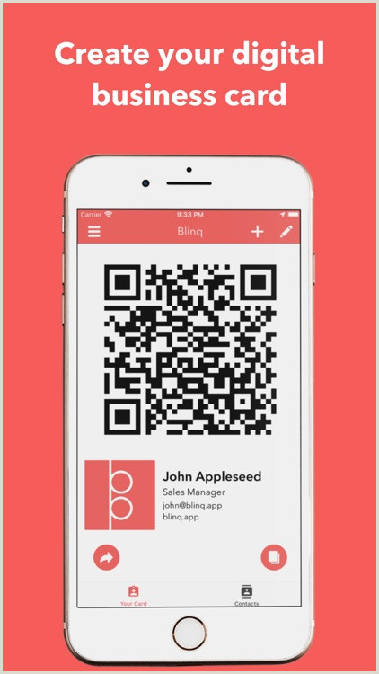 Font For Business Cards Blinq Digital Business Cards By Rabbl Pty Ltd