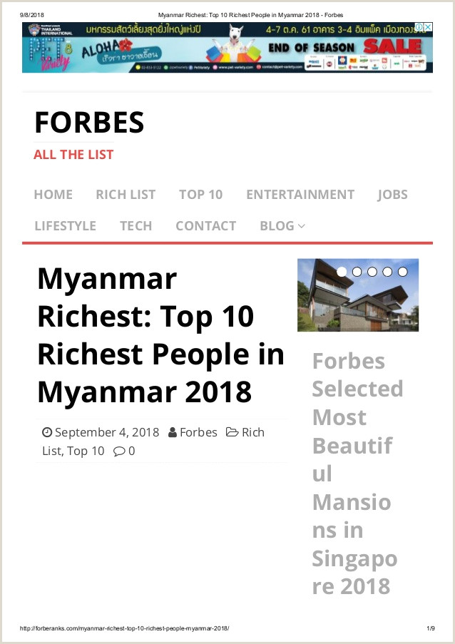 Forbes Best Business Cards Myanmar Richest Top 10 Richest People In Myanmar 2018 Forbes