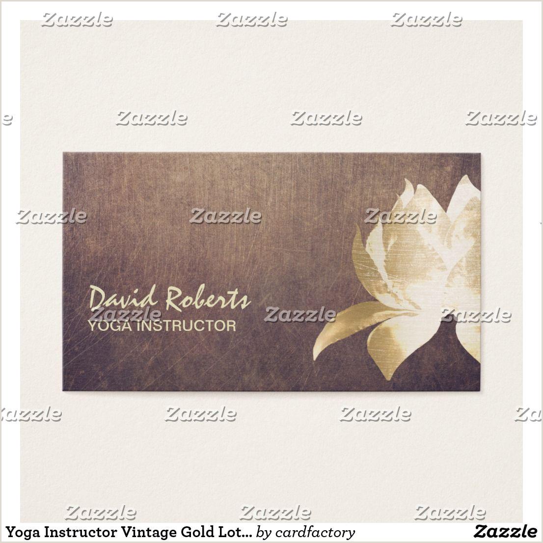 Forbes Best Business Cards Yoga Instructor Vintage Gold Lotus Flower Business Card