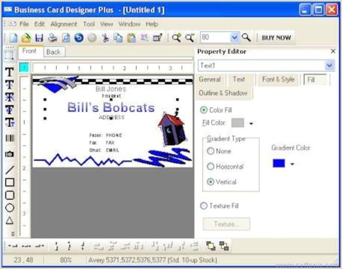 Free Business Card Design Software Business Card Designer Plus Download