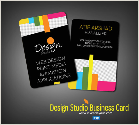 Free Business Card Designs Templates 100 Free Psd Business Card Templates