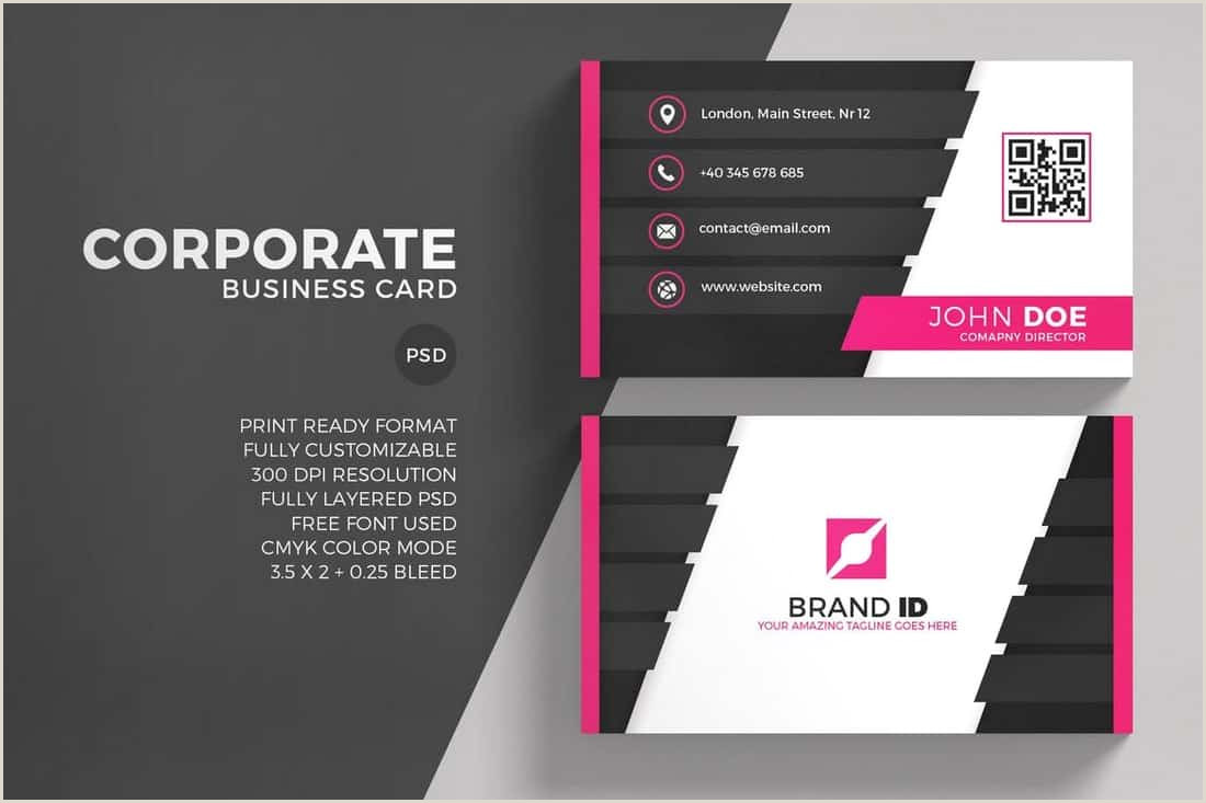 Free Business Card Template For Word 20 Best Modern Business Card Templates 2020 Word Psd