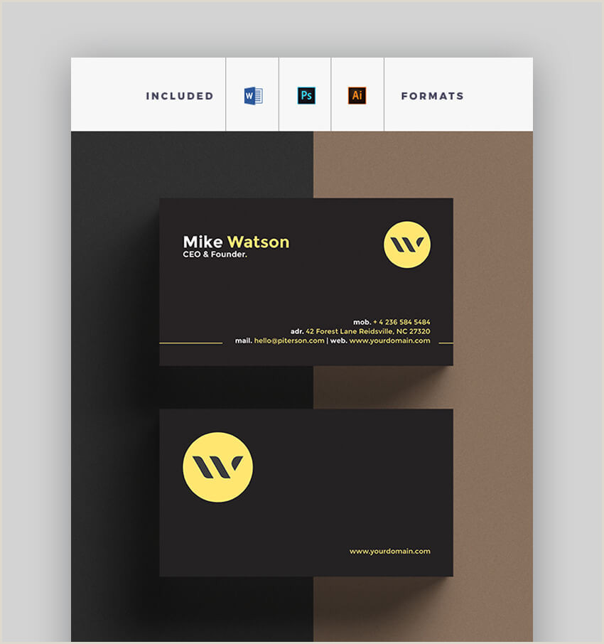 Free Business Card Template For Word 25 Free Microsoft Word Business Card Templates Printable