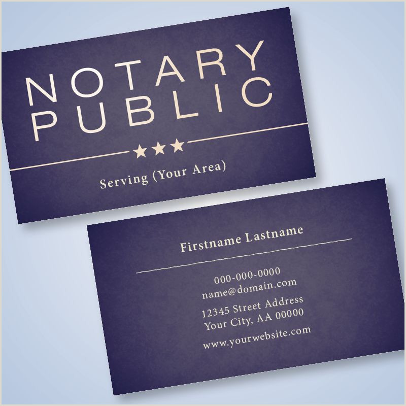 Free Business Cards Shipping Included Paper Crafts Ridesharetags Notary Public Blue