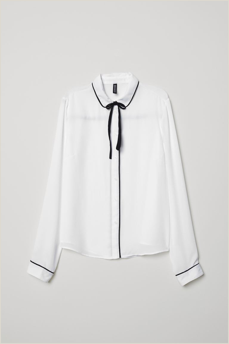 Front And Back Business Cards Blouse With Ties