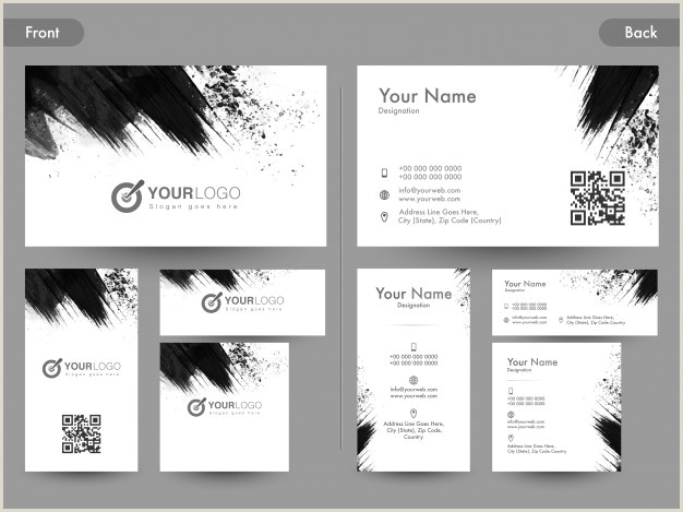 Front And Back Business Cards Free Vector