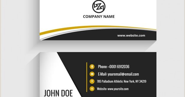 Front Of Business Card Download Vector Modern Visiting Card with Octagon
