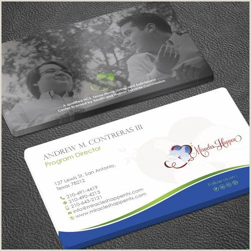 Fun Business Cards Special Needs Program Miracles Happen Needs A New Fun Card