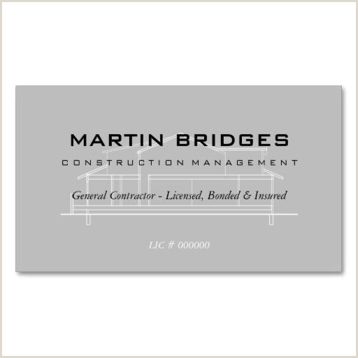 General Contractor Business Card Ideas Modern General Construction Business Cards