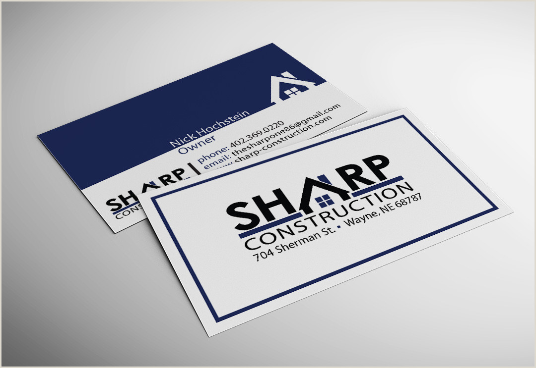 General Contractor Business Card Ideas Top 28 Examples Of Unique Construction Business Cards
