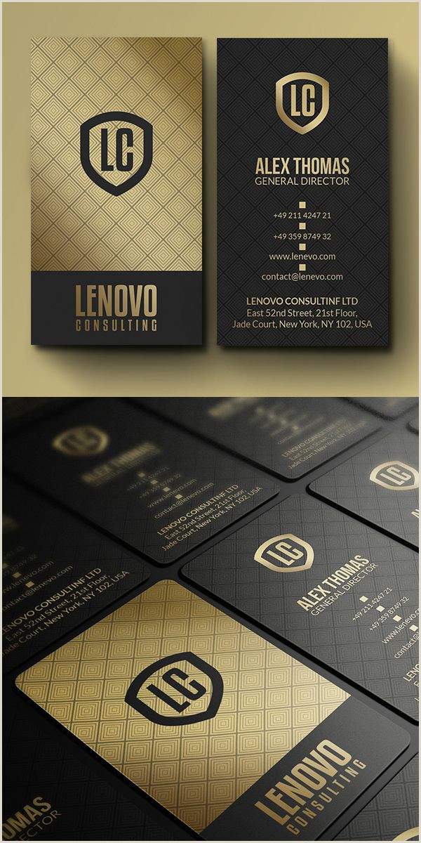 Gold And Black Business Cards 25 Professional Business Cards Template Designs