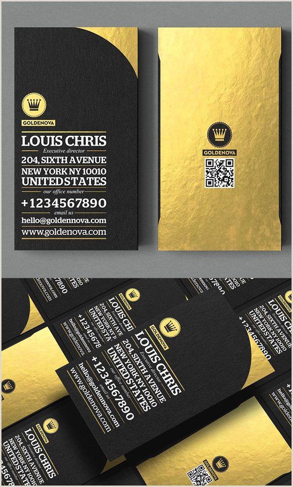 Gold And Black Business Cards Black And Gold Business Card Templates Design