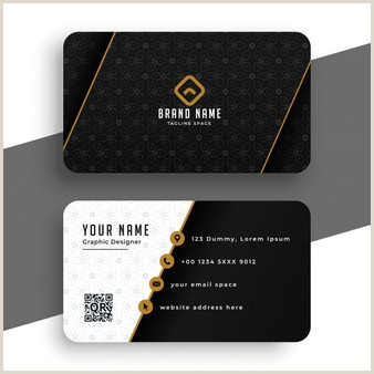 Gold And Black Business Cards Free Vector