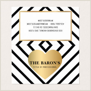 Gold And Black Business Cards Geometric Heart Business Cards Business Card Printing