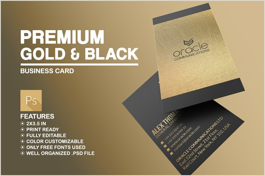 Gold And Black Business Cards Gold And Black Business Card