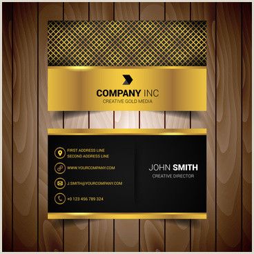 Gold And Black Business Cards Gold And Black Business Card Vector Free Vector
