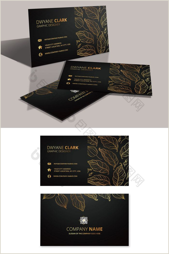 Gold And Black Business Cards High End Fashion Black Real Estate Business Card