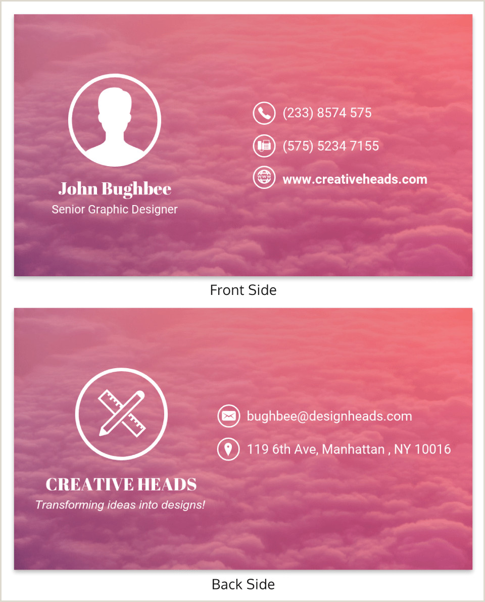 Good Business Card Examples 40 Of The Best Business Card Examples Venngage