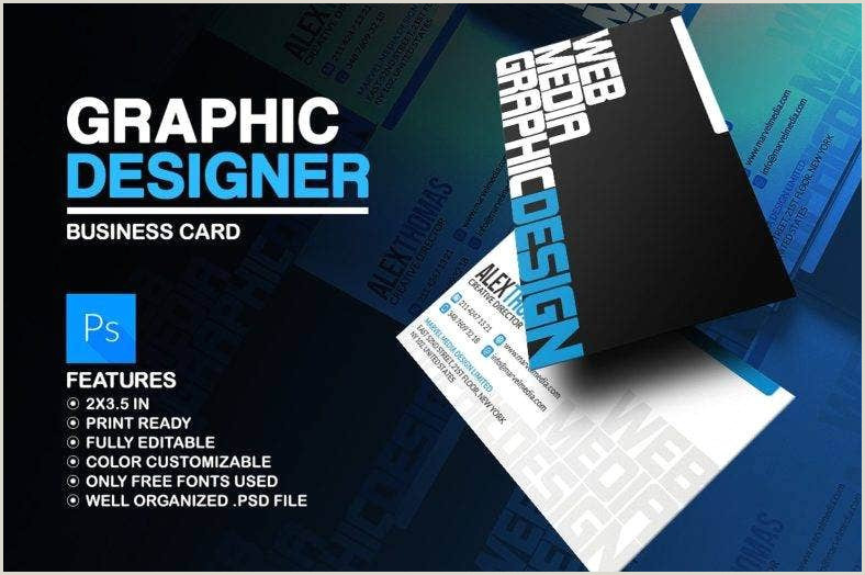 Graphic Artist Business Cards 17 Graphic Designer Business Card Templates Ai Word