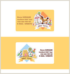 Graphic Design Best Business Cards For Children Company Business Card Kids Vector Over 3 800