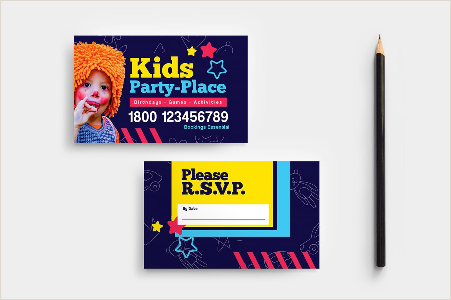 Graphic Design Best Business Cards For Children Company Kid S Party Business Card Template In Psd Ai & Vector