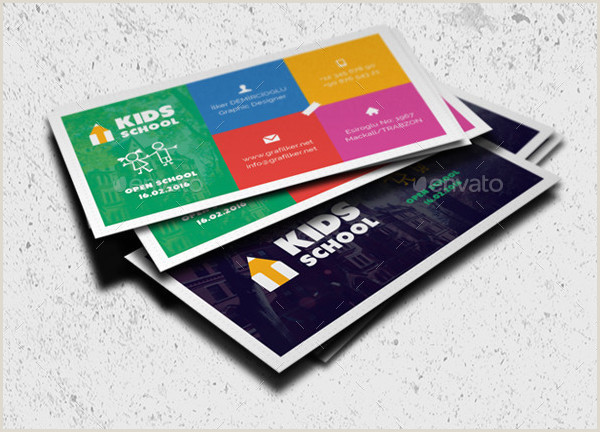 Graphic Design Best Business Cards For Children Company Kids Business Cards 29 Psd Ai Eps Vector Format Download