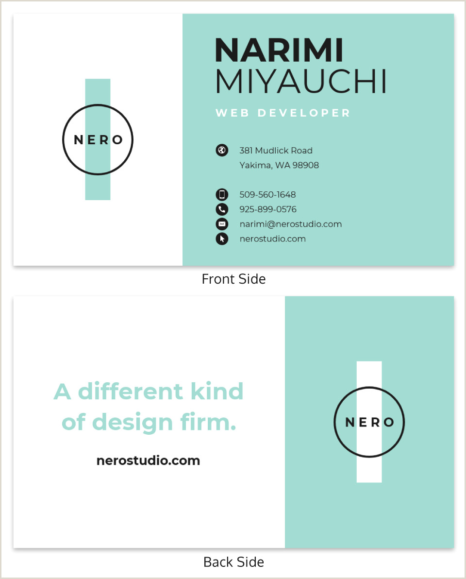 Great Business Card Examples 40 Of The Best Business Card Examples Venngage