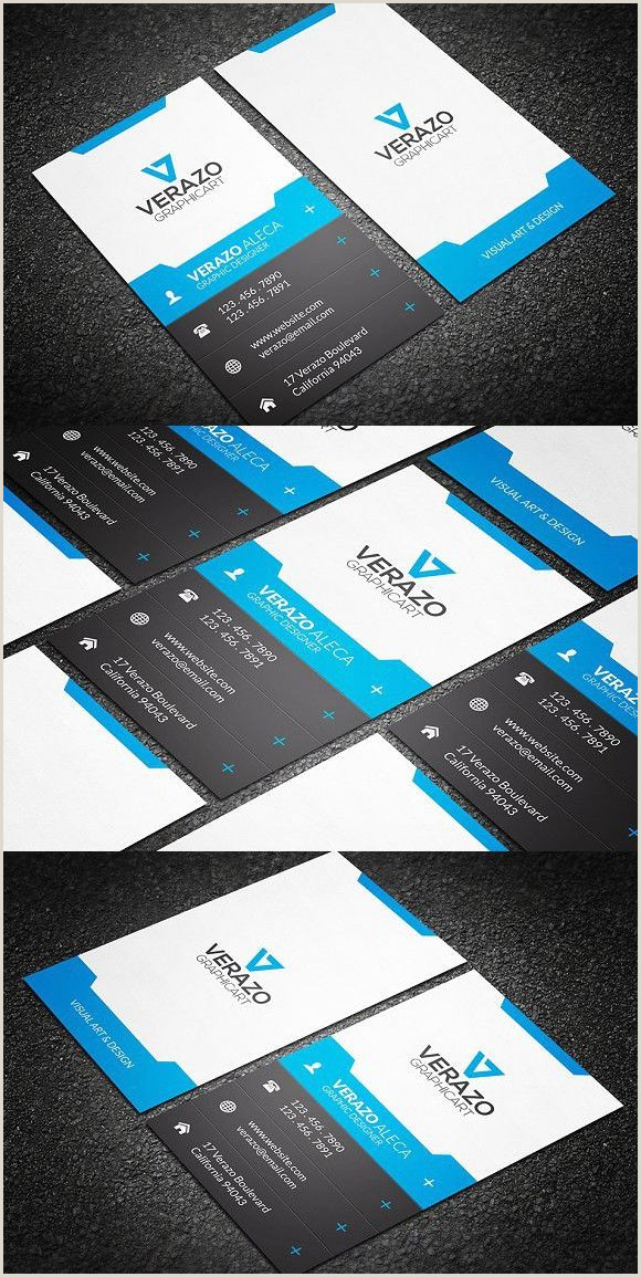 Great Business Card Examples Modern Vertical Business Card