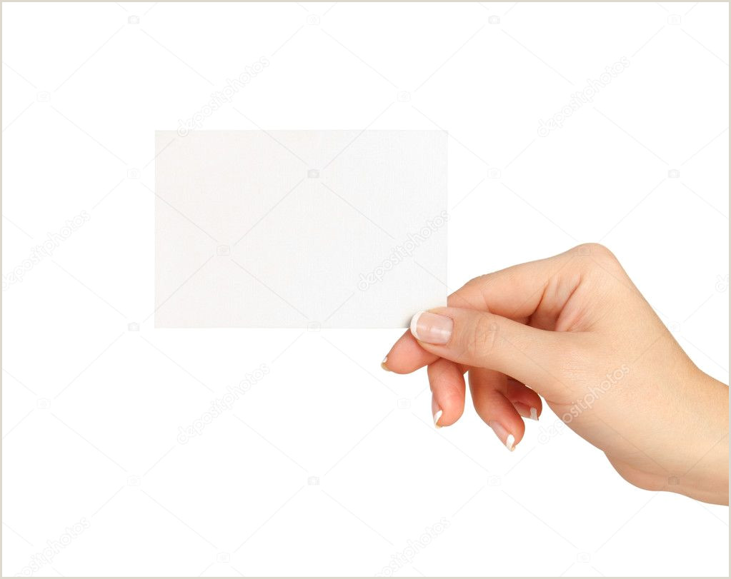 Hand Drawn Business Cards Hand Holding Blank Business Card