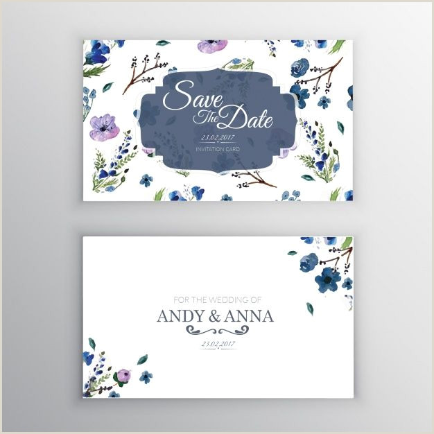 Holiday Business Cards Unique Floral Wedding Invitation Vector Free Download