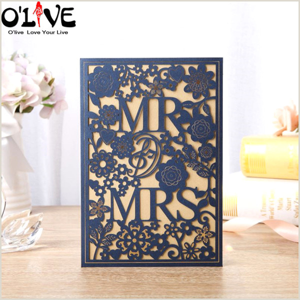 Holiday Business Cards Unique Wedding Invitation Card Laser Cut Mr Mrs Wedding Cards Blank Plimentary Party Invitation Supplies Drop Ship Business Greeting Cards Business