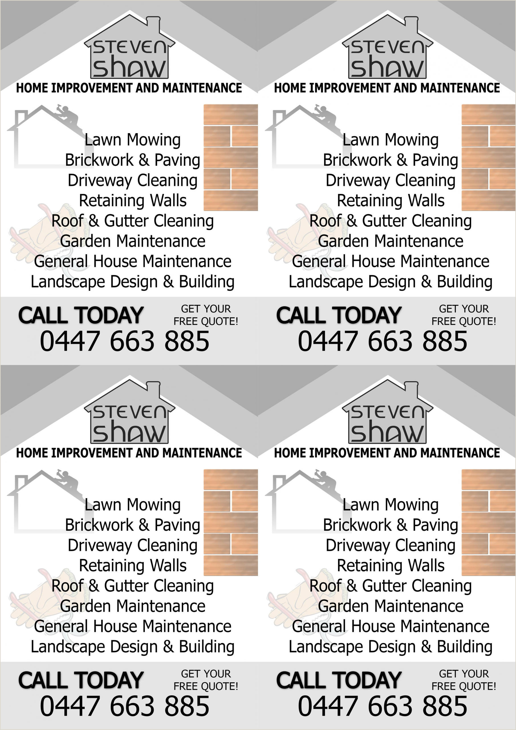 Home Improvement Best Business Cards Home Improvement Business Cards Business Card Design