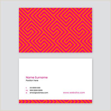 Hot Pink Business Cards Hot Pink & Orange Patterned Business Card Easil