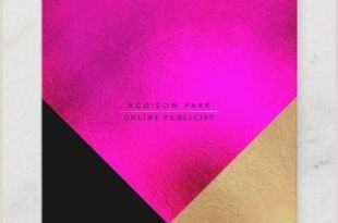 Hot Pink Business Cards Hot Pink Background Business Cards