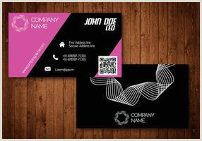Hot Pink Business Cards Hot Pink Creative Visiting Card Vector Download Free