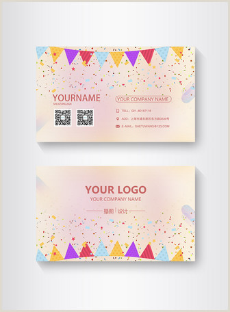 Hot Pink Business Cards Pink Cute Hand Drawn Business Card Design Template