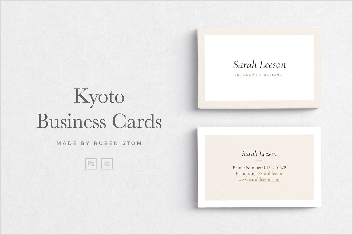 How Big Is A Business Card Business Card Bundle
