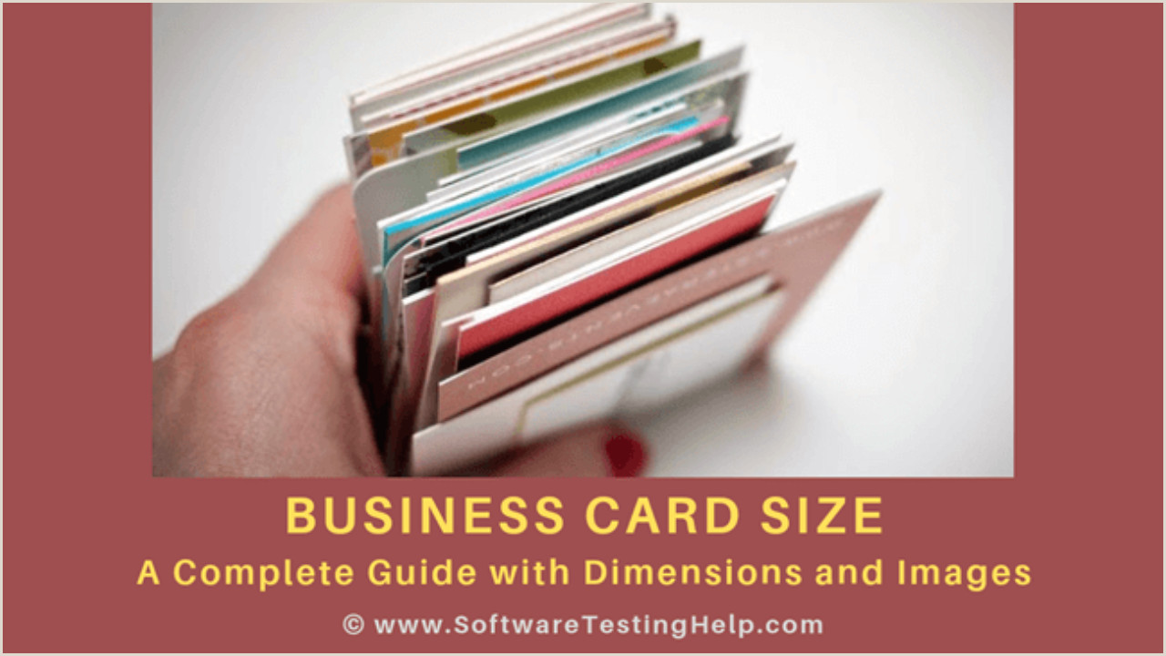 How Big Is A Business Card Standard Business Card Size Country Wise Dimensions And