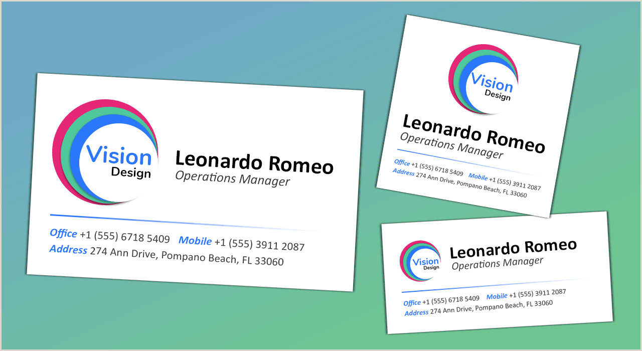 How Big Is A Business Card Standard Business Card Sizes & Dimensions