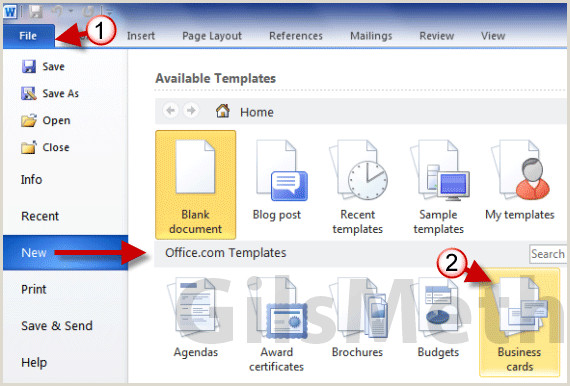 How To Design Business Cards On Word How To Print Business Cards In Word 2010