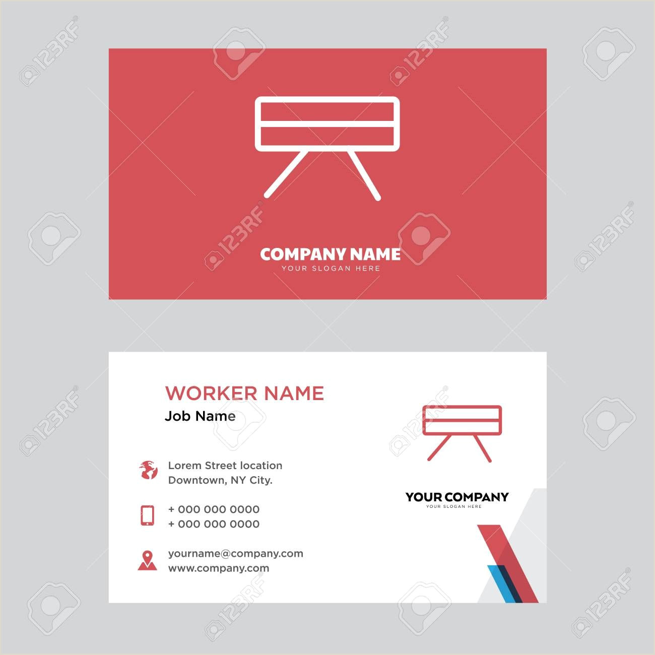 How To Design Business Cards On Word Table Business Card Design Template Visiting For Your