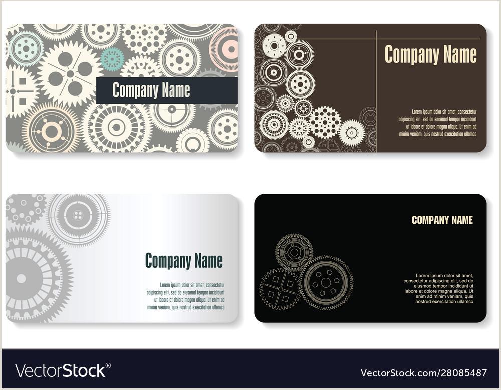 How To Make A Buisness Card Business Card Gear Design
