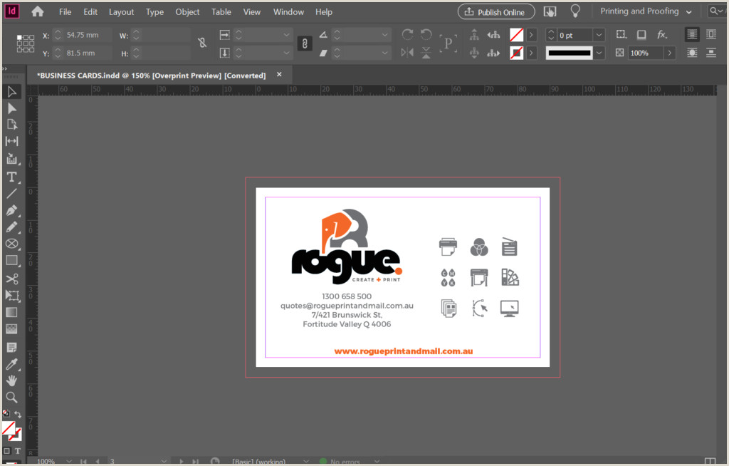 How To Make A Buisness Card Business Cards Rogue Print And Mail