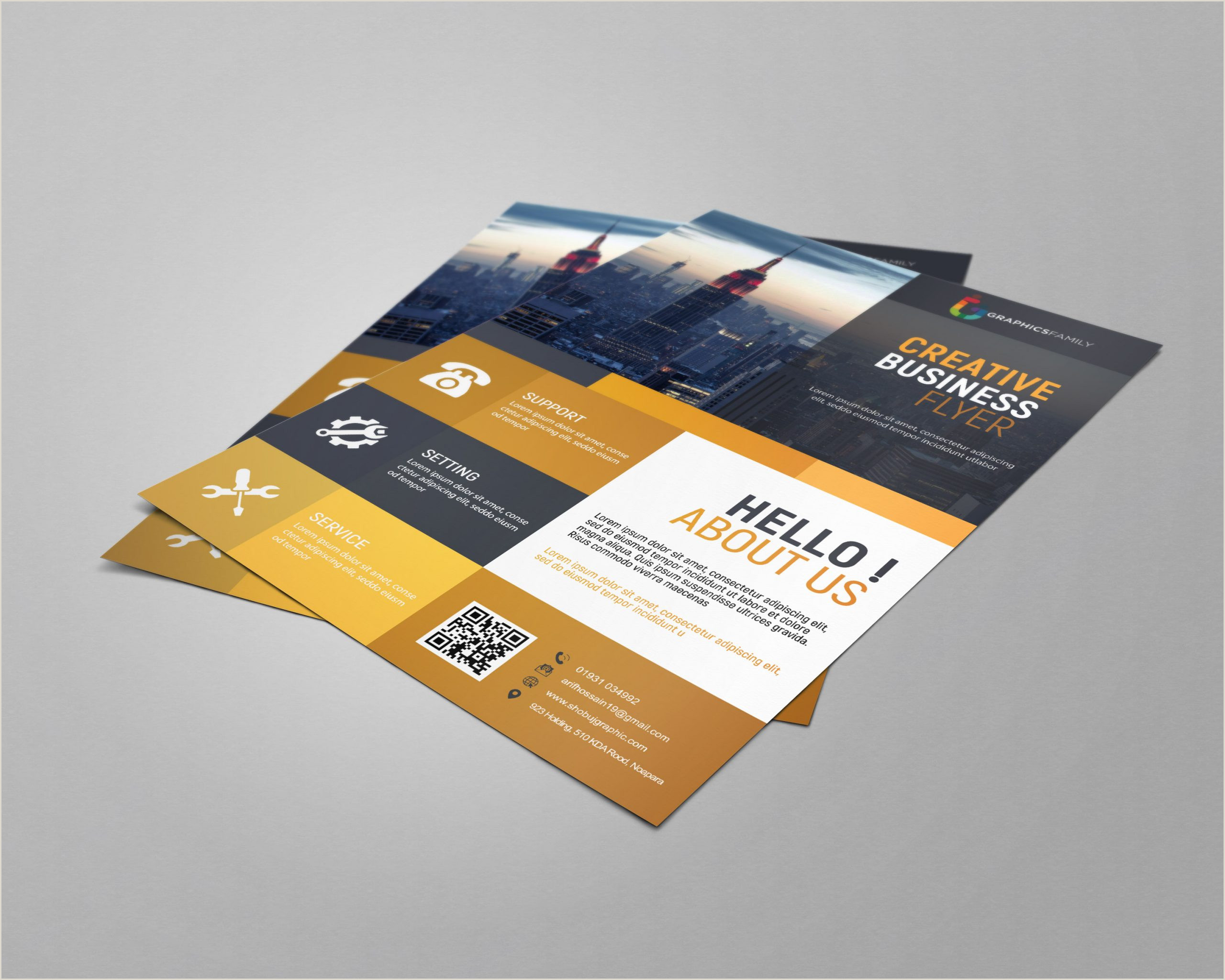 How To Make A Buisness Card Business Flyer Template Free Design