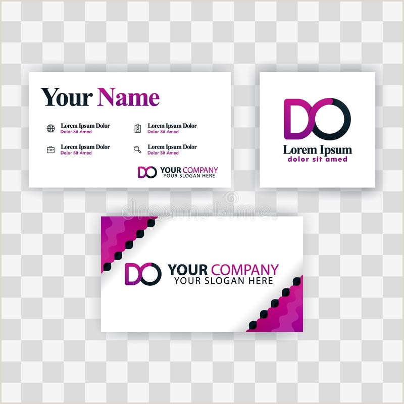 How To Make A Buisness Card Clean Business Card Template Concept Vector Purple Modern